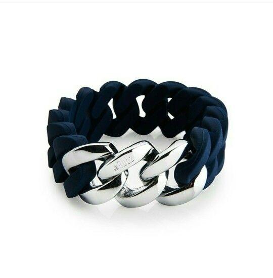 Heel gaaf!  The Rubz armband, donkerblauw zilver