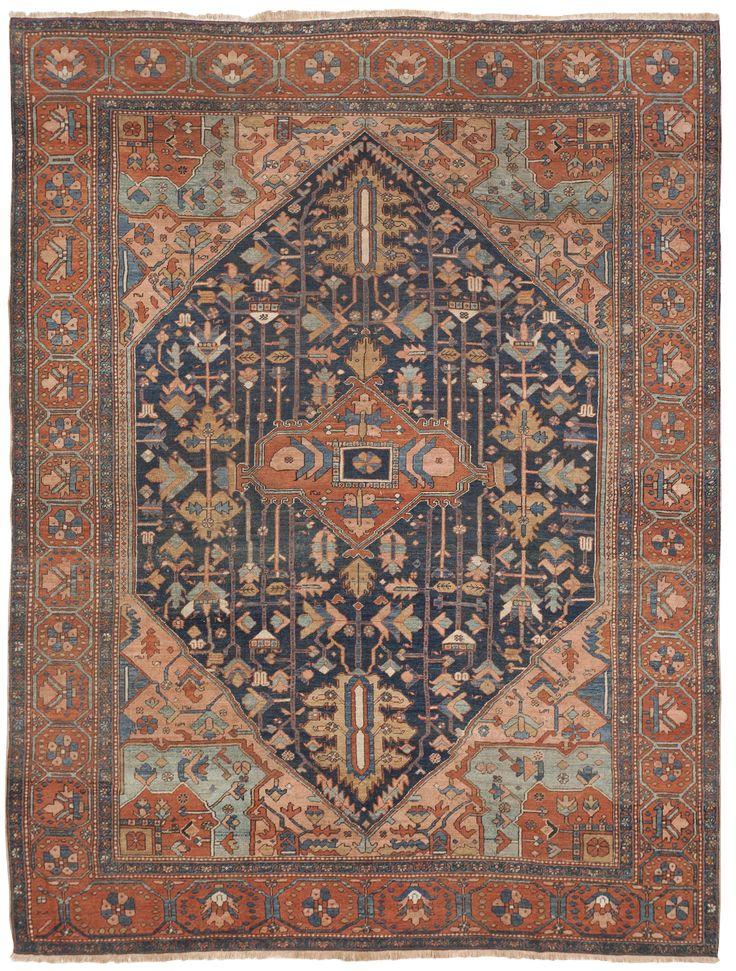 """Antique Persian Heriz Rug - 9'6""""x 12'5"""""""