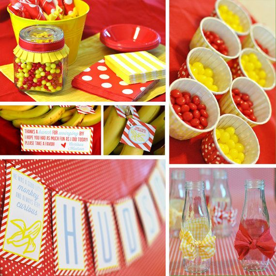 Curious George Inspired - Go Bananas - DIY Printable Party Set - As Seen on Hostess with the Mostess  sc 1 st  Pinterest & 133 best curious George party ideas images on Pinterest | Curious ...