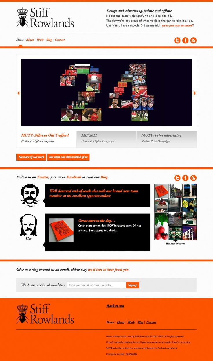 I'm usually not a fan of orange, but it works here. #webdesign #web #design #color #orange Website, Webdesign Web
