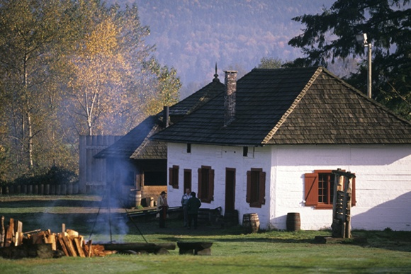 Historic Fort Langley, BC - Hudsons Bay Trading Post along Fraser River  I Lived in Fort Langley