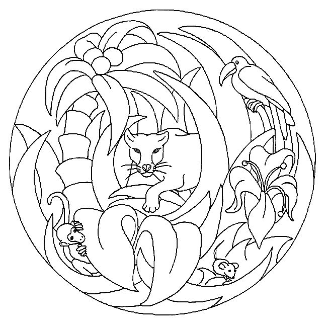food coloring mandalas | Coloring Page - Mandala animal coloring pages 47