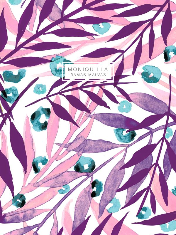 moniquilla_ prints_pattern design: Fulares Ramas - Primavera 2015