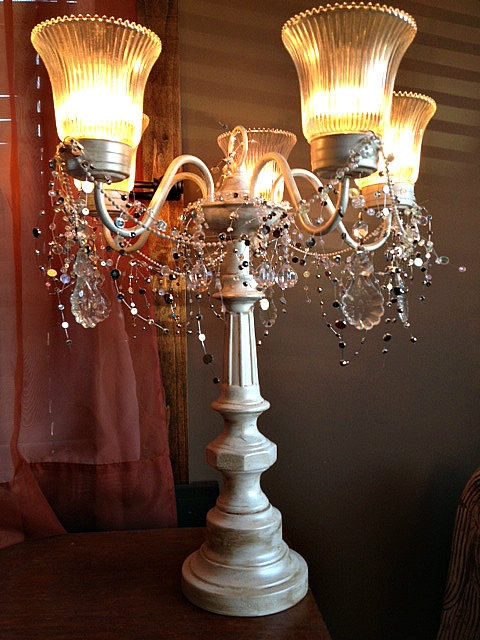 Tabletop Chandelier By SandrasChicandShabby On Etsy 16900 Bright IdeasTabletopChandeliersDining Room