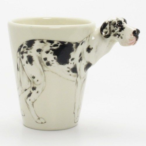 Great Dane Harlequin Mug Ceramic 3d Cup Collectibles 00003