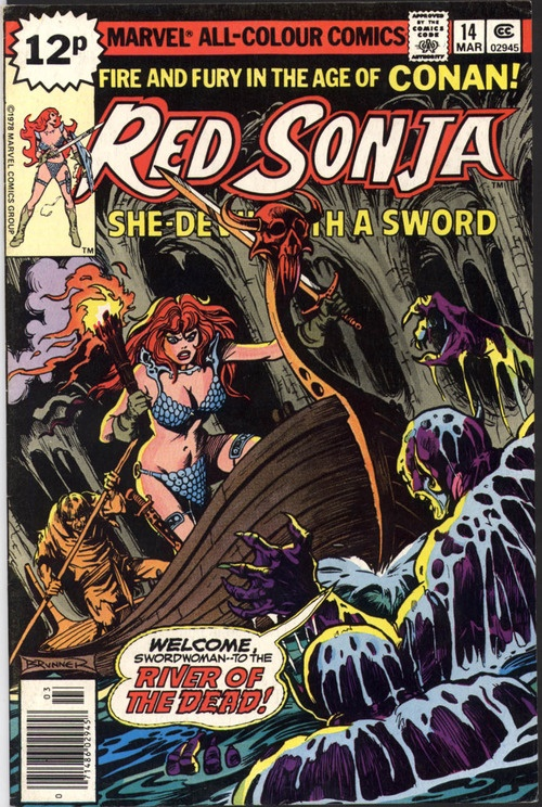 comicbookcovers:    Red Sonja #14, March 1979, cover by Frank Brunner