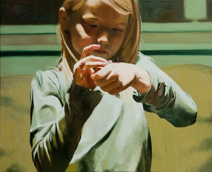 Childs Play, oil on canvas, 50 x 61 cm / Markus Akesson / Markus Åkesson