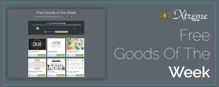 Free Goods Of The Week  Aug. 28 #xtremefreelance #wordpressdevelopment