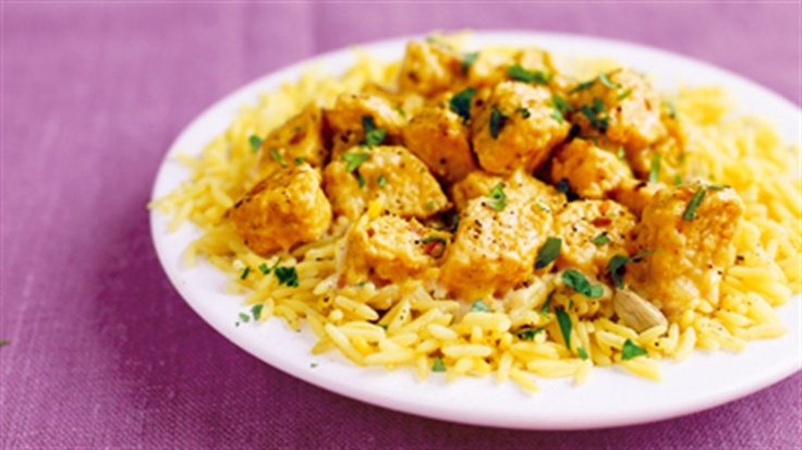Low fat Quorn Korma. I think I will try this with chicken!!