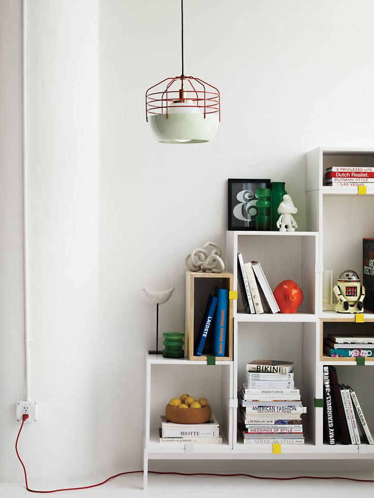 Stacked Shelving System, designed by JDS Architects for Muuto. DWR, Styled by Studio Marcus Hay