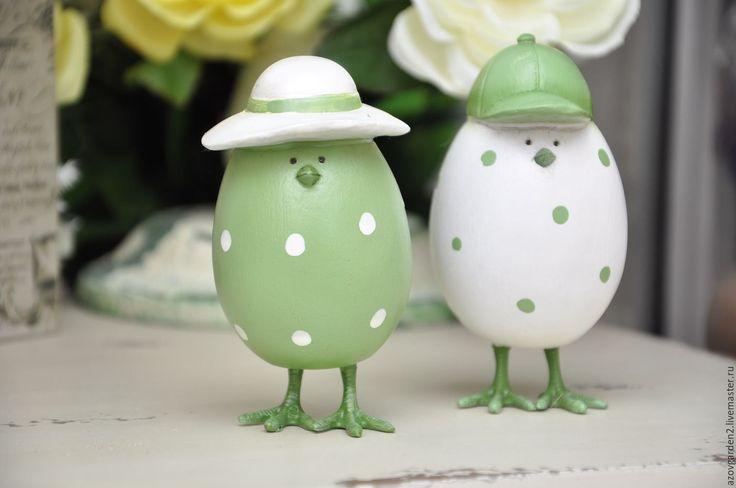 Купить Набор статуэток Пара пасхальных яиц, под старину, Прованс, Пасха - прованский стиль