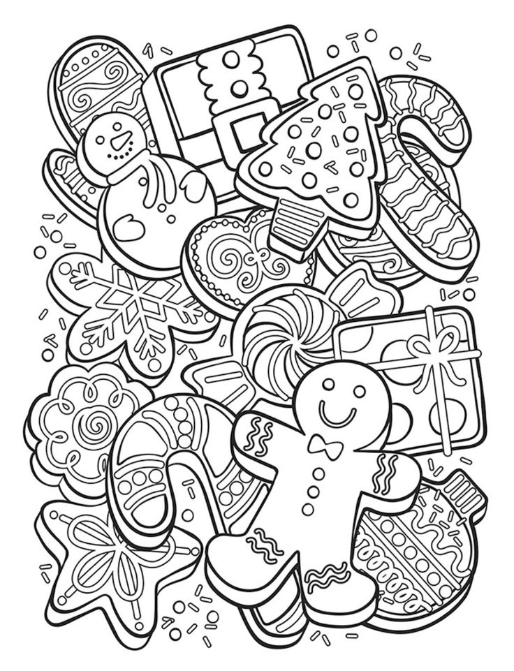 Free Christmas Cookies Coloring Page Crayola coloring