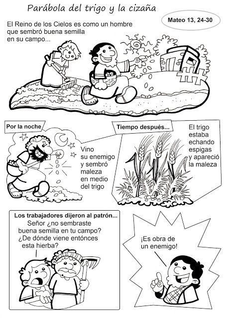 El Rincón de las Melli: HISTORIETA: Parábola del trigo y la cizaña                                                                                                                                                                                 Más