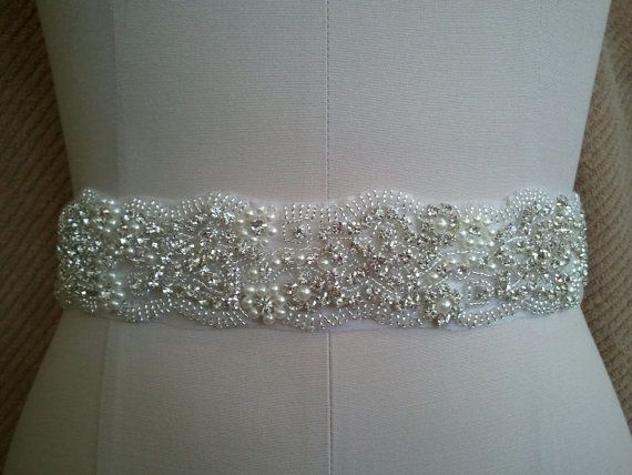 Wedding Belt Bridal Sash Belt  Crystal Pearl Sash by TheWeddingOne, $46.50