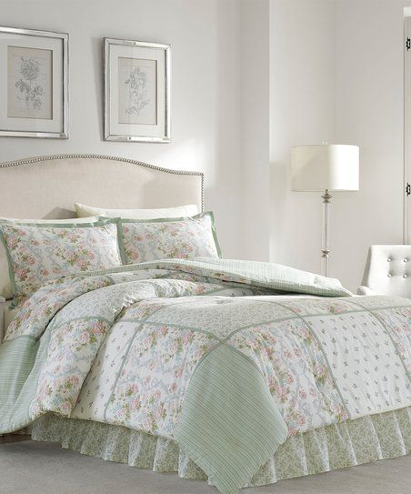 Laura Ashley Home® Floral Four-Piece Comforter Set | zulily