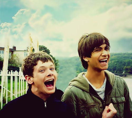 Freddie and Cook from Skins U.K. 2nd generation
