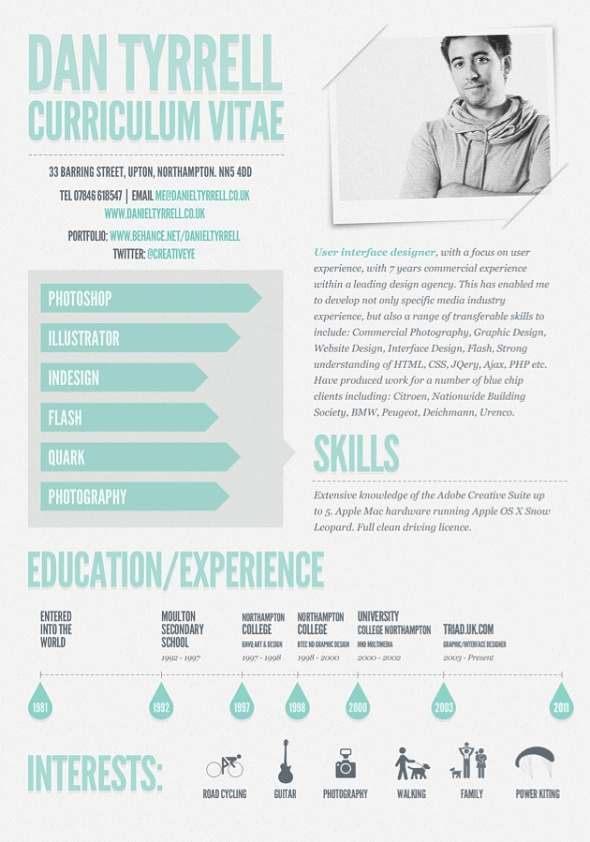 66 best Resumes images on Pinterest Resume design, Design resume - ux design resume