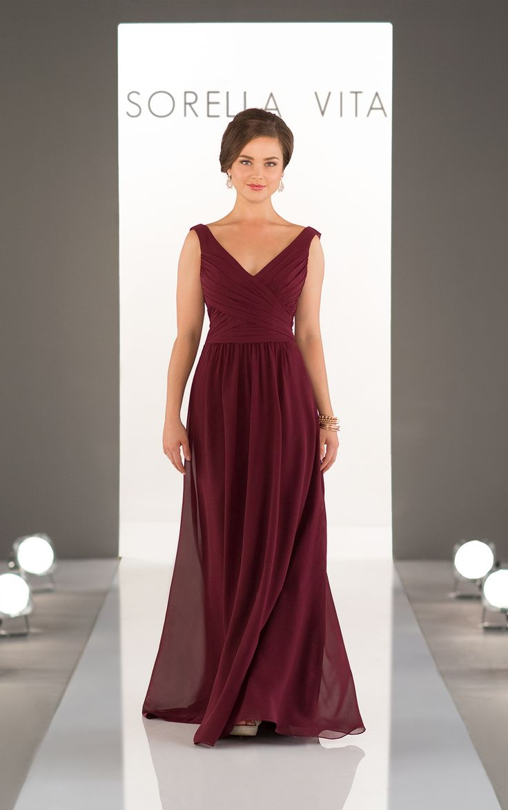 69 best in store bridesmaids dresses images on pinterest bridal a classic addition to the sorella vita bridesmaid dress collection this chiffon gown with v ombrellifo Gallery
