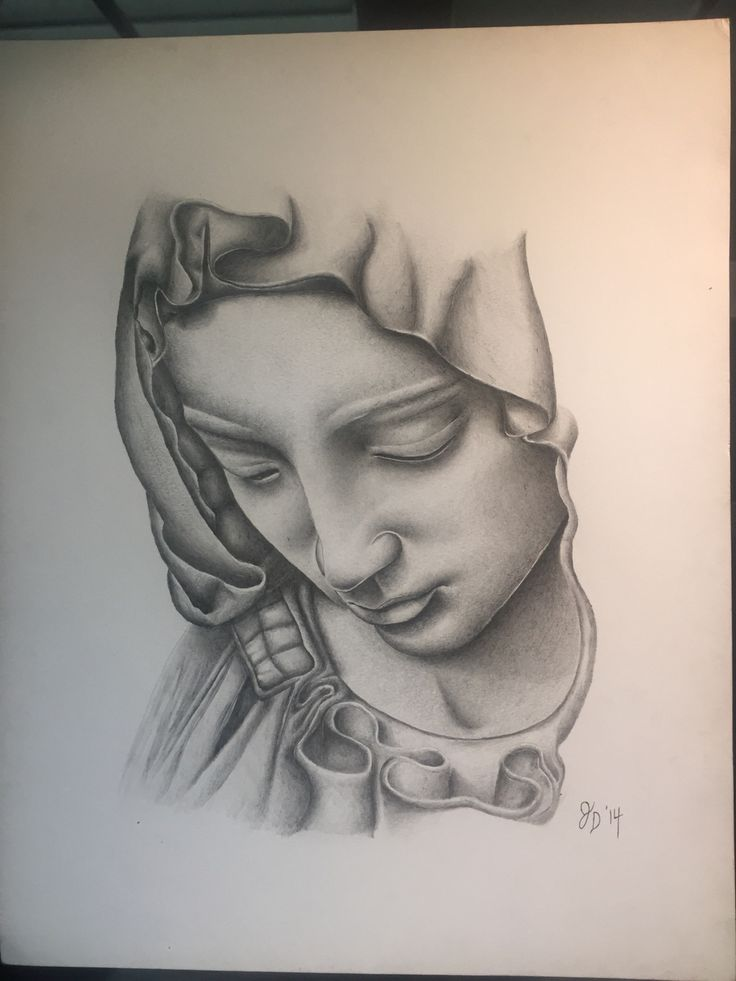 Virgin Mary done in acrylic pencil | drawing ideas