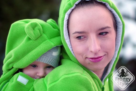 4-in-1 Front/Back Babywearing Jacket FROGGY STYLE by FroggyStylePL