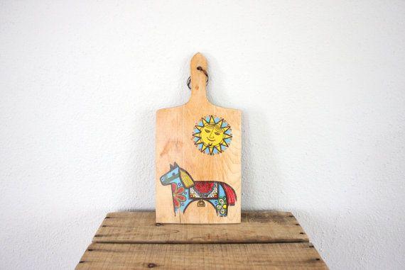 Vintage Cutting Board // Scandinavian Cutting Board by adVintagous, $16.00