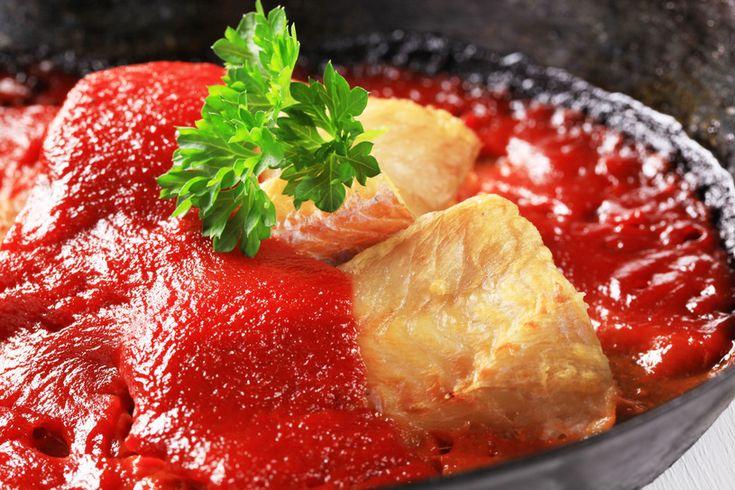 Dorsz w pomidorach