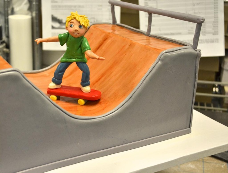 Radical Half-Pipe Skateboard Cake from Sugarland in Raleigh and Chapel Hill