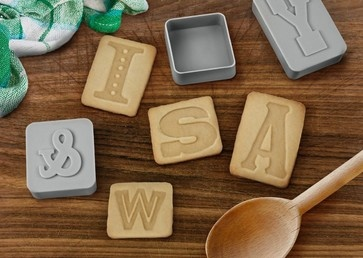 I love these little cookie stamps. Stamp your name or secret messages on the cookies, and they will be a big hit.