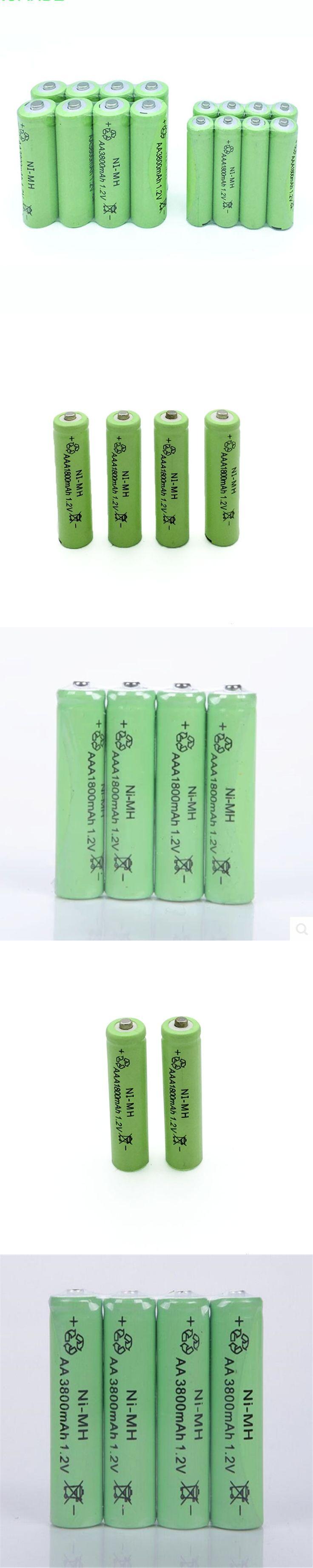 10XAA 3800MAH +10XAAA 1800MaH 1.2V NiMH Rechargeable Battery Free shipping