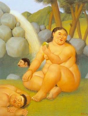 The Waterfall 1996 by Fernando Botero