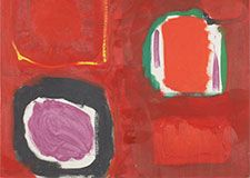 Patrick Heron, Red Painting October 1959 Taking Flight: St Ives in the 1950s | Abbot Hall Art Gallery