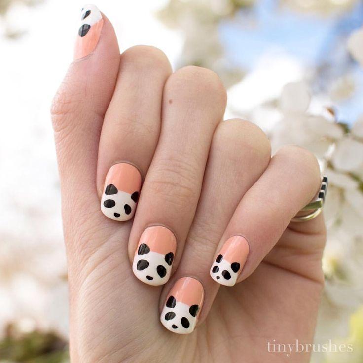Panda Nail Art: 25+ Best Ideas About Panda Nail Art On Pinterest