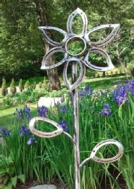 Recycled Horseshoes Garden Sculpture