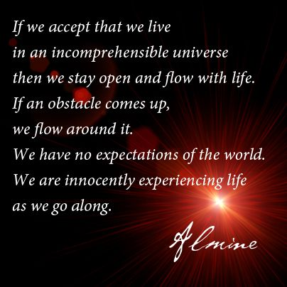Accepting the nature of our universe...