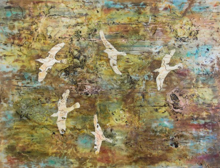 "'An Innate Map"" 60x40cm encaustic art by Mirella Vassallo"