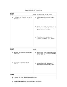 Political Cartoon Analysis Worksheet Answers including political ...