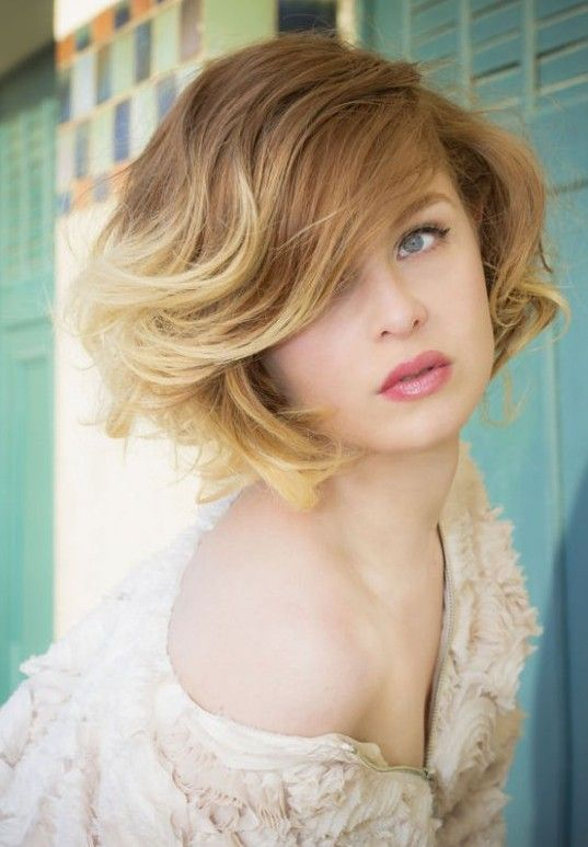 Short Ombre Hair - Ombred Bob Hairstyle with Bangs