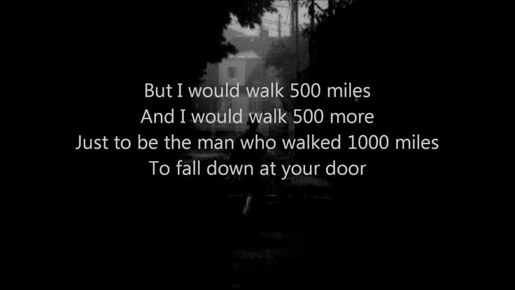 Day 2 Music Challenge...a song you heard again for the first time in years.....The Proclaimers - I'm Gonna Be (500 Miles) reminds me of high school.