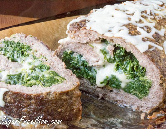 Low Carb Cheesy Spinach Stuffed Meatloaf | Recipe | Traditional, Tree ...