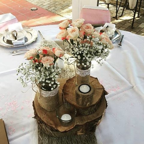 Romantic centerpieces give an added touch of color and beauty to your ideal #GrecianPark #wedding!  Thank you @thegiftindustry for the instapic!  #protaras #cyprus #weddinginspiration #weddings #decor #decoration #flowers #weddingday