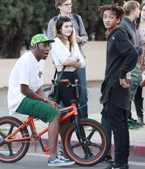 Tyler the creator, Kylie Jenner and Jaden Smith out in LA