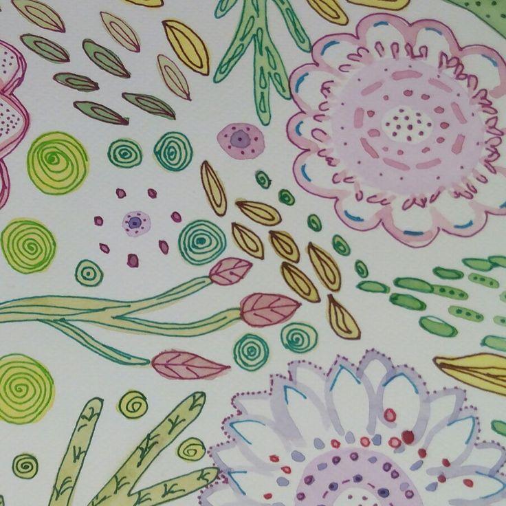 Disegno acquerello e pennarelli