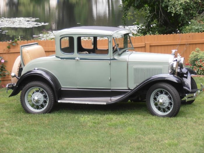 1930 Ford Model A ST Coupe With Rumble Seat