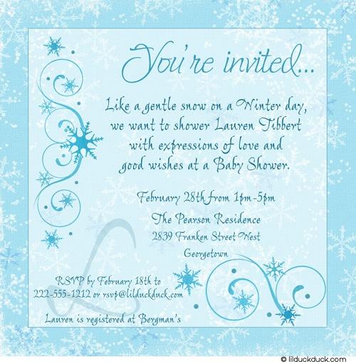 Invitation Wording For Winter Party. Winter Snowflake Shower Invitation  baby shower instead of bridal 19 best Wonderland images on Pinterest