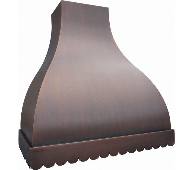 Scallop™- Copper Range Hood - Wall or Island Mount.  Choose from a variety of finishes!
