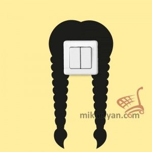 Stickers for Plugs & Switch Buttons>Hairstyle cut 3 for sale from 4.90 #wall #art #stickers #decal