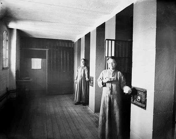Female prisoners in the Carleton County Jail on Nicholas Street in 1895.