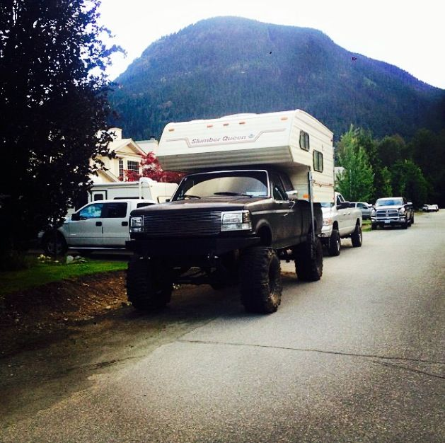 Obs ford with camper
