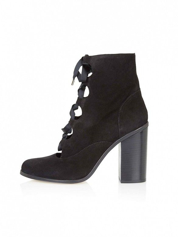 Topshop Magpie Ghillie Ankle Boots     |      Styletorch.com