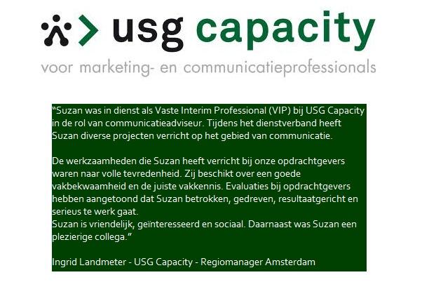 Aanbeveling USG Capacity